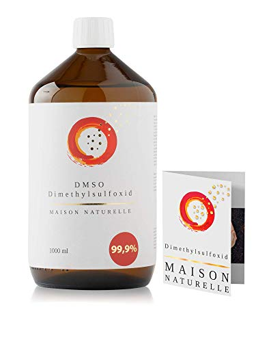 MAISON NATURELLE ® - DMSO 1000 ml - 99,9% Reinheit Ph. Eur. - Dimethylsulfoxid - pharmazeutische Reinheit - in Braunglasflasche