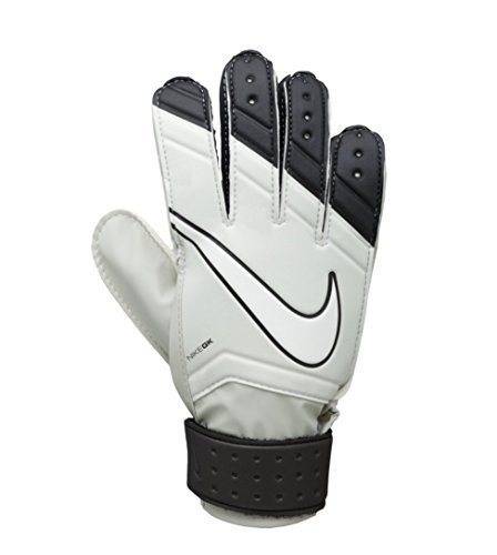 Nike Kid's Unisex Goalkeeper Jr Match Soccer Gloves 6 Bone Black Grey (4) -