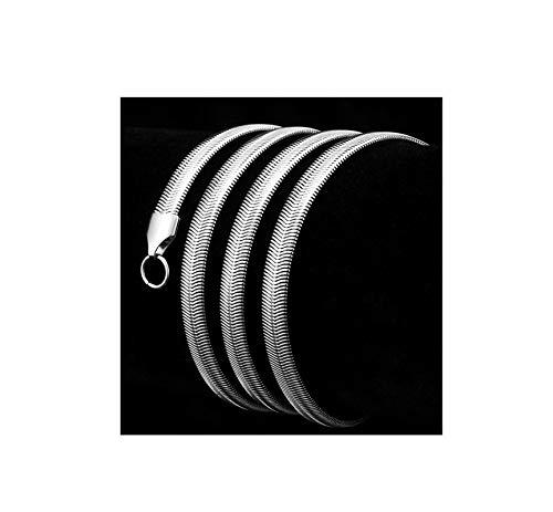 Epinki Edelstahl 6MM Halskette für Herren Silber