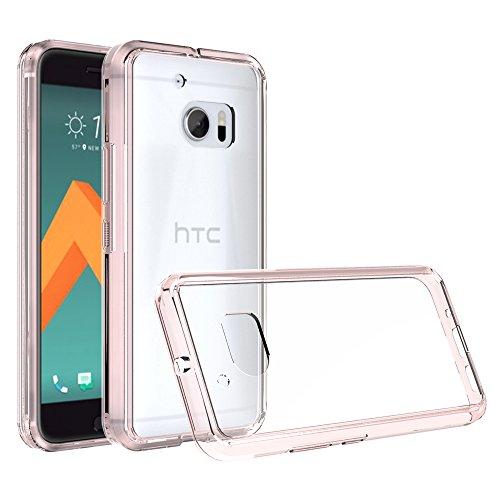 Preisvergleich Produktbild HTC 10 / HTC One M10 Handy Tasche, FoneExpert® Ultra Air Hybrid Air-Cushion Kantenschutz Technologie - Bumper Case Durchsichtige Rückschale Hülle Cover schutzhülle für HTC 10 / HTC One M10 (Crystal Rose)