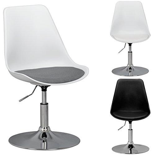 FineBuy HAINAN | sedia girevole con seduta in tessuto | sedia girevole regolabile in altezza | Sgabello girevole con schienale | Sedia visitatore con sedile anatomico
