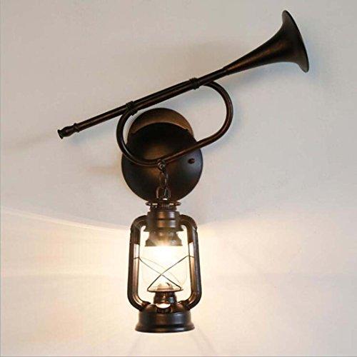 Glight Lámpara de Pared de Cristal Vintage, lámpara de Pared Creativa del...