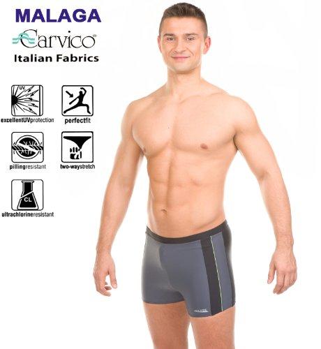 Aqua-Speed–Maillot de bain pour homme–Perfect Fit Noir/rouge/gris