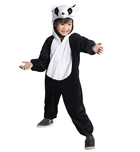 Ikumaal Panda-Kostüm An75 Gr. 92-98, für Baby Klein-Kinder Kind-er, Fasching Karneval (Panda Kostüm Kind)