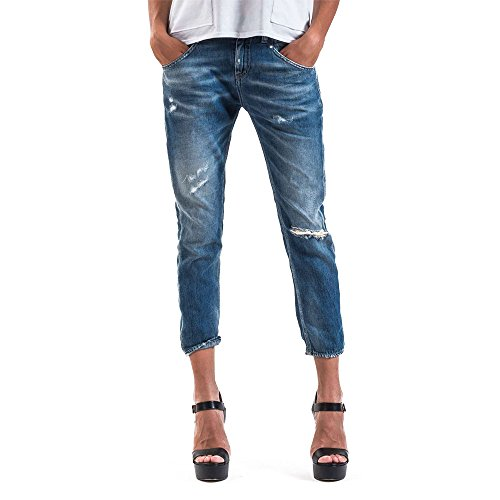 Meltin'Pot - Jeans LEIA D0123-BP390 für frau, straight leg form, loose fit, tiefer bund - größe W36/L30 (Größe hersteller:28)