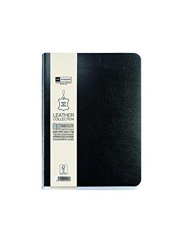 basicos-mr-10413-cahier-souple-cuir-8-300-feuilles-a-carreaux-fermeture-par-elastique-noir