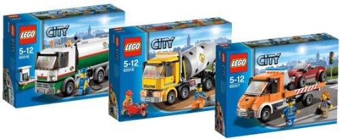 Preisvergleich Produktbild Lego City 60016 Tanklaster + 60018 Betonmischer + 60017 Tieflader