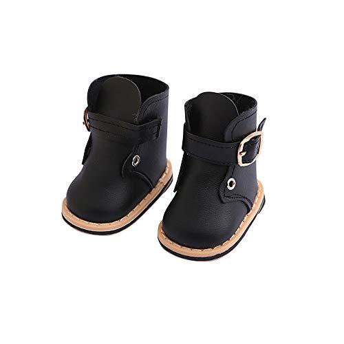 Puppenschuh, YUYOUG 1 Paar Nette Mode Stiefel Wram Winter Schuh Für 18 Zoll Unsere Generation Amerikanische Puppe Zubehör Mädchen Spielzeug Weihnachten Geburtstagsgeschenk (Schwarz) (Bitty Baby Schuhe)