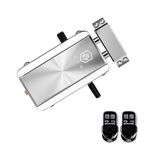 Leepesx Home Door Lock Kit Fernbedienung Keyless Entry Elektronisches Schloss Smart Wireless Anti-Diebstahl-Deadbolt Zutrittskontrollsystem für Home Hotel Apartment (Keyless-entry-tür-kit)
