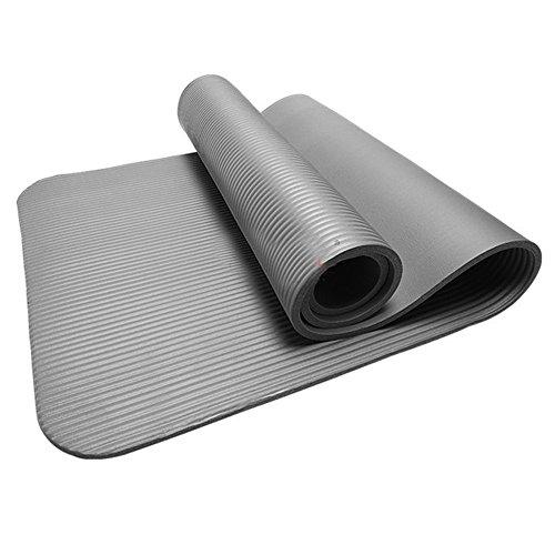 Patifia Pilates Gymnastikmatte, 10MM Starke dauerhafte Reise Yoga-Matte Rutschfeste Übung Fitness-Pad-naturkautschuk Sport and TranningMatte verlieren Gewicht, in 6 unterschiedlichen Farben
