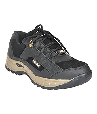 JK Port Men's Safety Black Shoe With Steel Toe-7