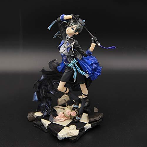 FKYGDQ Anime Black Deacon Modell Statue Botanischer Garten Mädchen/Charles/Spielfigur Spielzeug Höhe 22 cm Spielzeugstatue (Garten Statue Kleines Mädchen)