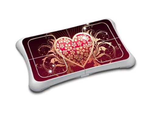 Sticker Skin für Wii Fit Balance Board (Black-Red Heart) -