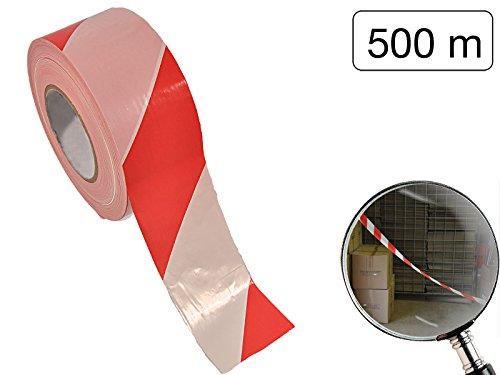 Absperrband 500 m x 70 mm -rot-weiß zum schnellen Sichern von gefährlichen Bereichen