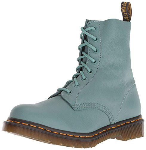 Martens 8 Eyelet (Dr. Martens Ladies 1460 Pascal Pale Teal Virginia 8 Eyelet Lace up Leather Boots-UK 4 (EU 37))