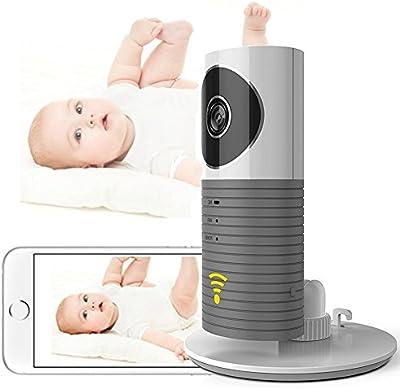 Cadrim Cámara de Vigilancia Inalámbrica Wifi con Visión Nocturna Detección de Movimiento con Alarma Simultánea Control Remoto desde Móvil iPhone y Tabletas