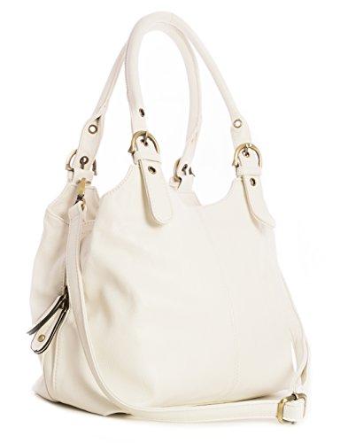 Big Handbag Shop, Borsa a mano donna Bianco (bianco)