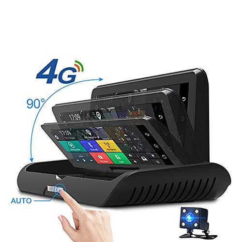 Boman Auto Dashcam 4G ADAS Android WiFi DVR Kamera Full HD 1080P Doppelobjektiv Auto Dash Cam Navigator GPS Parkmonitor mit 32 GB Karte