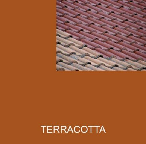 9,98EUR/L - 5L Ziegelfarbe Dachfarbe Dachbeschichtung Dachversiegelung in Terracotta Dachrenovierung Metalldach Blechdach Flachdach Farbe Beschichtung Anstrich Ziegel Dach
