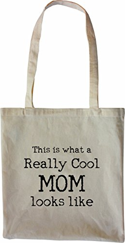 Mister Merchandise Tasche This is what a really Cool Mom looks like Mama Mutter Mutti Stofftasche , Farbe: Natur Natur