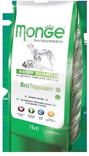 Monge - Maxi Puppy & Junior Ricco di Pollo 1 Sacco 3,00 kg