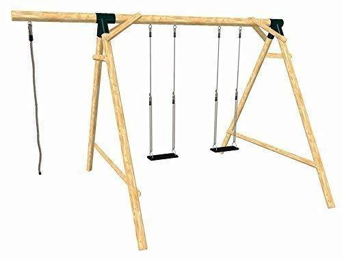 Loggyland 9133 - Holz-Schaukel-Set BOUNCE aus Lärche/Douglasie, Höhe 2.60m