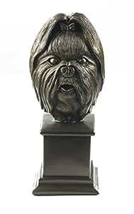 Ornement en fonte-Shih Tzu/Llaso Apso-buste pour chien