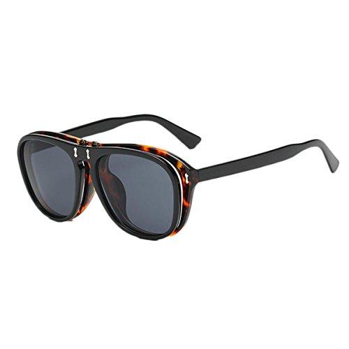 Flip Sonnenbrille Männer und Frauen Trend Sonnenbrille UV400 Schutz (Farbe : F)