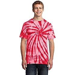 Port & Company® - Tie-Dye Tee. PC147 Red S