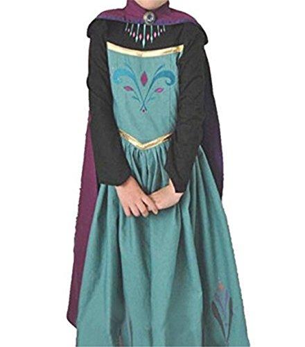 nzessin Kostüm Eiskönigin Kleid für Mädchen Schmetterling Karneval Verkleidung Party Cosplay Faschingskostüm Festkleid Weinachten Halloween Fest Kleid, Größe 110, Farbe Blau (Cupcake Kostüm Kinder)