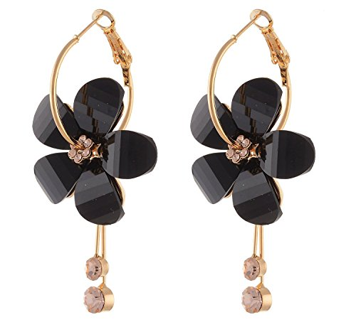 YouBella Jewellery Gold Plated Fancy Black Party Wear Dangle & Drop Earrings for Women