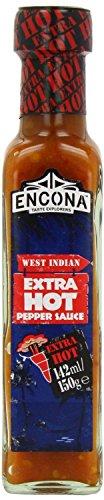 Encona West Indian Extra Hot Pepper Sauce - Chilisauce aus der Karibik -2x142 ml