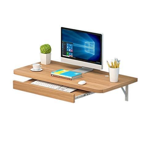 Schreibtisch Wand Home Office Computer Schreibtisch PC Laptop Schreibtisch mit Tastatur Ständer Modern Simplicity Convertible Workstation für kleine Räume Runde Ecke (60x40cm) -