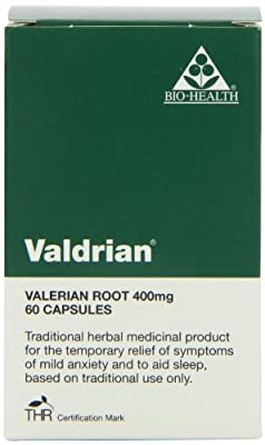 Bio Health 400mg Valdrian Valerian Root - Pack of 60 Capsules from Queenswood Natural Foods Ltd