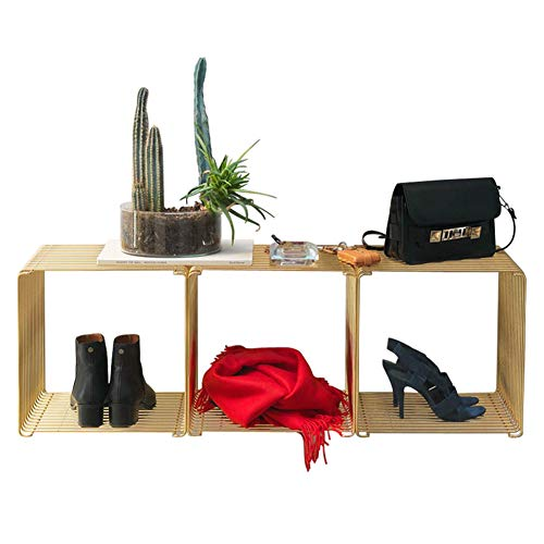 Corner Storage Unit (HOME-Furniture Metall-Wandhalterung, TV-Hintergrund, Dekorative Bücherregal Wohnzimmer Anzeige Floating Storage Unit Corner Frame (Farbe : Set of 3))