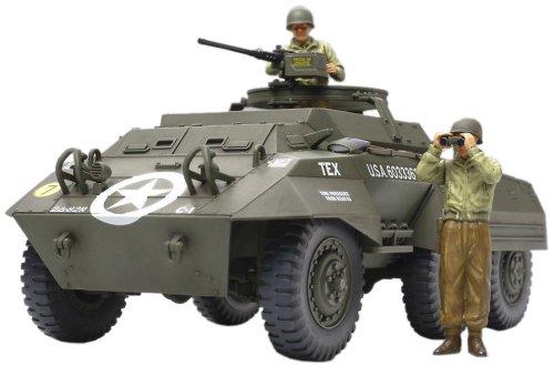 TAMIYA 300032556 - WWII US Leichter Spähpanzer M20 (2), Militär-Bausatz 1:48