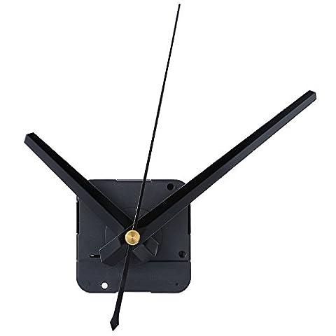 Mudder DIY Mécanisme de Mouvement de l'Horloge, 4/25 Pouces Épaisseur Maximale de Cadran, 3/5 Pouces Longueur Totale de l'Arbre(Noir)