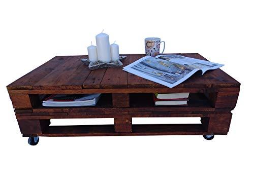 4. Dydaya - Mesita de madera de palets estilo nórdico