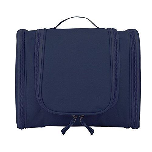 Multifunktionale Portable Folding Travel Kulturbeutel Makeup Cosmetic Organizer Dusche Waschbeutel Fall Haushalt Grooming Kit Lagerung mit Hängehaken Blau (Grooming Folding)