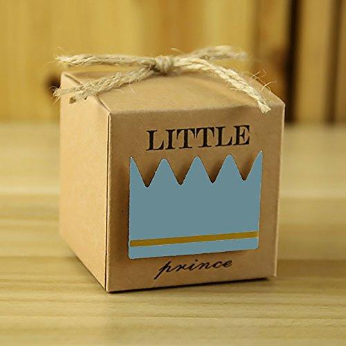 Lembeauty 50Prince Princess Crown Candy Box im europäischen Stil Baby Dusche Neugeborene Parteien Geschenk-Box Prince Crown