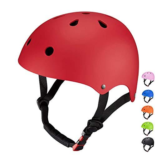 SKL Kinder Skateboarder Helm Fahrradhelm Integralhelm Rollerhelm für Radfahrer Skateboard Scooter Bike Sicherheit Helm (Kinder Für Roller Helm)