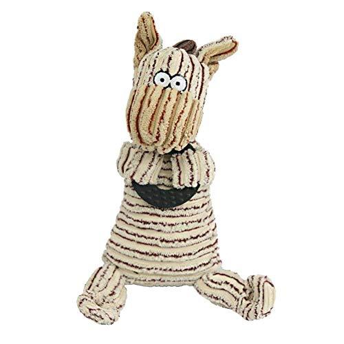 Cartoon-Tier Zebra-Form Sounder Einbau-Hund Chew Plüschtier Zähne Reinigungs-Spielzeug-Welpen Interactive Tug Dentitionspielzeug für Small Medium Hunde Haustier Zubehör- 1Pc Beige (Zebra-plüsch-spielzeug)