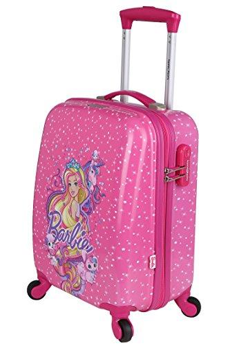 Disney Barbie 41 cm ABS Hard Sided Kids Cabin Luggage - Trolley/Travel/Tourist Bags (Humpy Dumpty), Pink