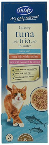 HiLife it's Only Natural Luxury Cat Food Tuna Trio in Sauce, 18 x 70g Cans 1
