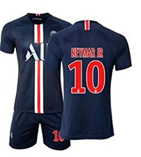QIKHUK Fußballanzug, Fußballverein Paris Saint-Germain # 10, Fußball-Sportbekleidung Neymar, Fußball-T-Shirt for Erwachsene und Kinder (Size : 16) -