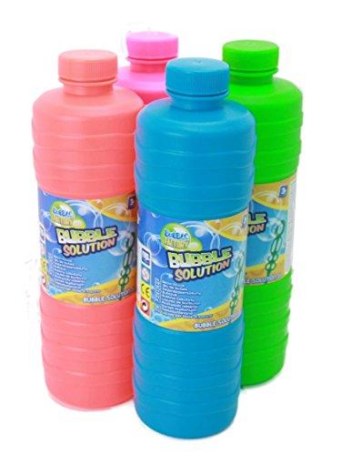 Seifenblasen 1Liter Seifenblasenflüssigkeit Nachfüller ideal für Seifenblasenlösung Pistolen Stäbe Seifen Blasen Lauge
