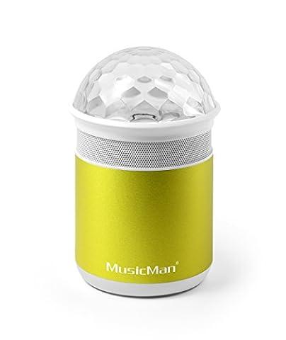 MusicMan 4552 Disco Bluetooth Soundstation BT-X17, Lautsprecher mit Freisprechfunktion und Disco-Lichteffekten