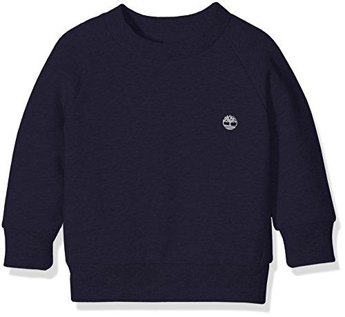 Timberland T25L14 Sweatshirt, Felpa Bambino, Blu (Navy), 10 Anni