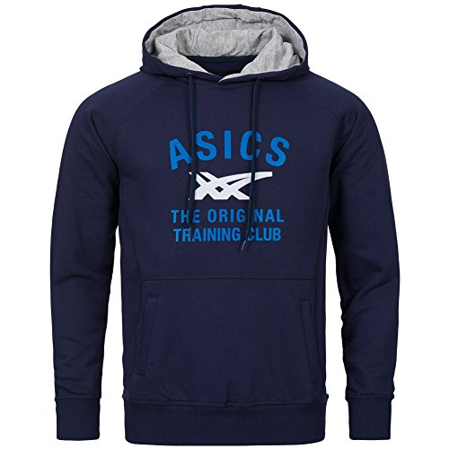Asics Graphic Men Uomo Felpe, Blau, M