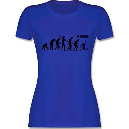 Evolution - Basketball Evolution - tailliertes Premium T-Shirt mit Rundhalsausschnitt für Damen Royalblau